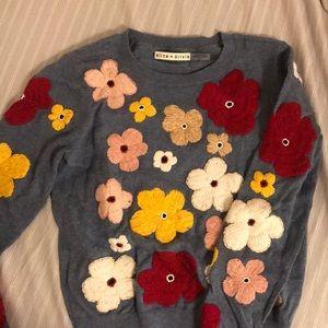 Alice & Olivia's floral long sleeve sweatshirt